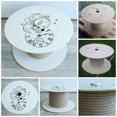 DIY stolek, cívka, špulka.  DIY table, Wood Cable Spool.