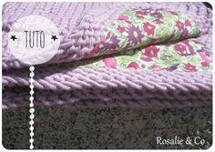 Couverture tissu tricot
