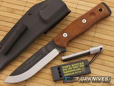 TOPS B.O.B. Fieldcraft Knife Brown Micarta for sale | GPKNIVES.com