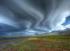 Snæfellsnes Peninsula, Iceland - Photograph by Matthew Wynyard. During a magic trip driving round Iceland, it was raining a lot. After crossing over Snæfellsnes Peninsula, everything changed, and these amazing lenticular clouds appeared. Beautiful Sky, Beautiful Landscapes, Beautiful Scenery, Iceland Wallpaper, Best Nature Images, Lenticular Clouds, Weather Cloud, Sky And Clouds, National Geographic Photos