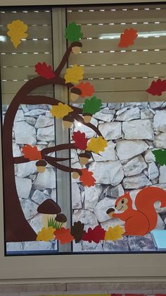 Fall Window Decorations, Fall Classroom Decorations, Class Decoration, Fall Arts And Crafts, Easy Fall Crafts, Diy And Crafts, Crafts For Kids, Bird Paper Craft, Thanksgiving