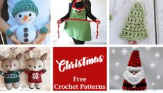 25 Crochet Christmas Patterns to Try - A More Crafty Life Large Christmas Stockings, Crochet Christmas Trees, Christmas Crochet Patterns, Christmas Ornament, Crochet Potholder Patterns, Crochet Throw Pattern, Crochet Hot Pads, Free Crochet, Crafty