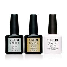 CND - Shellac Combo - Base, Top & Cream Puff