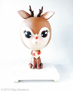 Baby Reindeer's first Christmas cake  - Cake by Olga Zaytseva