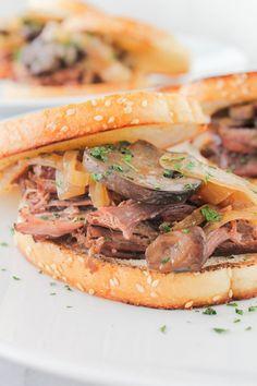 Beer Braised Brisket Sandwiches | The Chef Next Door #BestAngusBeef #ad
