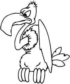buzzard cartoon coloring pages carving pinterest buzzard and rh pinterest com buzzard clip art free