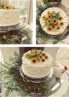 Farm Fresh Cake perfect for a farm style wedding or shower! Via Sail South Home: Charlottes Web Baby Shower