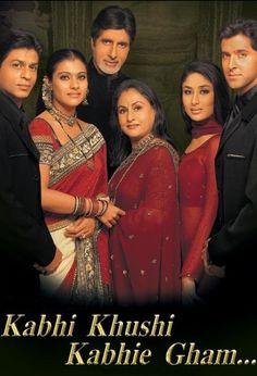 hindi movies Kabhi Khushi Kabhie Gham 2001 Full Hi - Hindi Bollywood Movies, Bollywood Posters, Telenovela Amor Real, Indian Movies Online, Tv Ao Vivo, Shah Rukh Khan Movies, Shahrukh Khan, Trailer Oficial, Hindi Movies