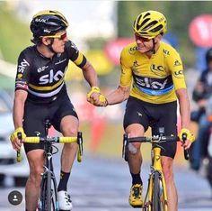 Geraint Thomas Chris Froome Stage 21 Tour de France 2016