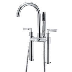 Double Lever Brass Deck Mounted Bathtub Mixer Bath Shower Mixer Taps, Bath Mixer, Bath Taps, Cheap Bathtubs, Kitchen Taps, Led Ceiling Lights, Plaque, Chrome Finish, Faucet