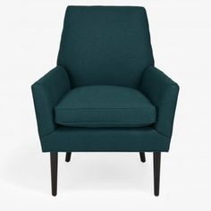 Cobble Hill Northside Chair   Upholstered in cotton velvet, the Northside chair has a deep seat and enveloping arms that welcome relaxation. Slim wood legs are at once contemporary and classic.