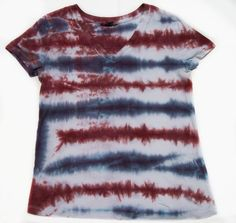 Women's Large Tie Dye Shirt Red White Blue by FarmFairyCrafts, $14.20