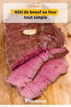 Rôti de boeuf au four tout simple - BBQ Grills Oven Roast Beef, Pork Roast Recipes, Healthy Grilling Recipes, Grilled Steak Recipes, Steak Fajita Recipe, Steak Marinade Best, Homemade Bbq, How To Cook Steak, Pepperoni