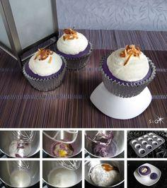 Ube Coconut Cupcakes