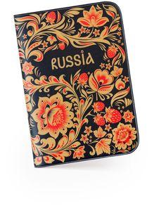 Passport Cover Russian Love, Russian Folk Art, Ukraine, Russian Culture, Russian Painting, Passport Cover, Graphic Design Typography, Bookbinding, Floral Motif