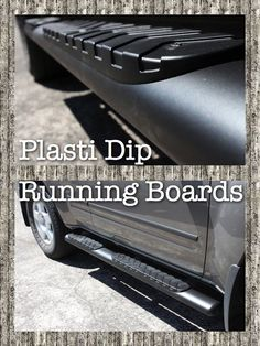 My 2006 Nissan Xterra matte black PlastiDip running boards. 4 heavy coats. Removed and disassembled for painting.