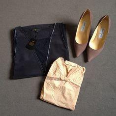 Sale shopping Part III: Maje silk & lace top,Princesse Tam Tam lingerie and Jimmy Choo Agnes pumps