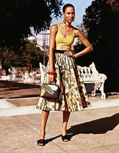Viva Cuba: Joan Smalls by Alasdair McLellan for W Magazine September 2015 - Marc Jacobs Fall 2015 skirt