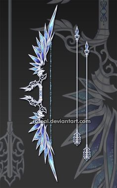 WeaponCustom by Rofeal on DeviantArt Ninja Weapons, Anime Weapons, Fantasy Sword, Fantasy Art, Espada Anime, Sword Design, Magical Jewelry, Anime Dress, Weapon Concept Art