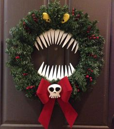 Nightmare before Christmas Decorations Luxury Nightmare before Christmas Reef Nightmare Before Christmas Decorations, Nightmare Before Christmas Halloween, Christmas Door Decorations, Christmas Themes, Holiday Crafts, Halloween Decorations, Christmas Wreaths, Outdoor Decorations, Holiday Decor