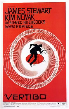 "One of my favorite designers ever! Saul Bass film poster for Alfred Hitchcock's ""Vertigo"""