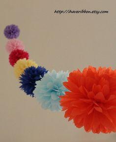 Garland Guirnalda de pompones de papel