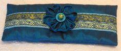 Sale  Silk Lavender Eye Pillow with Kanzashi by SewingBirdBoutique, $24.00