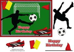 Football Crazy on Craftsuprint designed by Marie Wolman - This is an easy step by step decoupage for an A5 card featuring a football theme for all those boys who just love their football.I used my Football Crazy designer resource kit to create this design. Item no. cup361185_1294 - Now available for download!