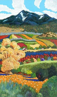Snow Patches by Gene Brown Acrylic on canvas