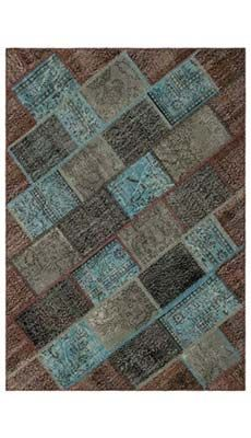 K0010663 Multicolor Over-dyed Turkish Patchwork Rug | Kilim Rugs, Overdyed Vintage Rugs, Hand-made Turkish Rugs, Patchwork Carpets by Kilim.com