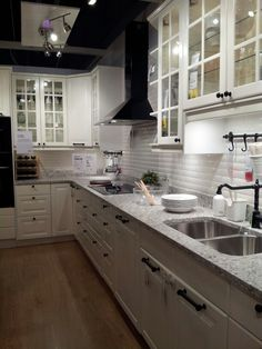 white IKEA kitchen