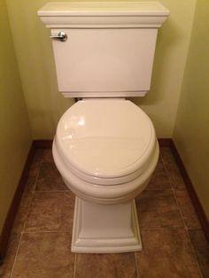 KOHLER Memoirs 2-piece 1.28 GPF Single Flush Elongated Toilet in White K-6669-0 at The Home Depot - Mobile Kohler Memoirs, House On A Hill, Toilets, Powder Room, Home Depot, Bathrooms, Powder Rooms, Toilet