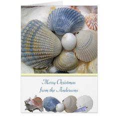 Christmas by the Sea Personalized Card