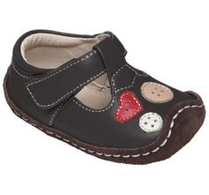 See Kai Run Smaller Liv Brown Girls Baby Mary Janes from seekairun.com - cool baby shoes, toddler shoes, kids shoes and baby booties.