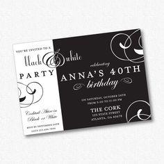 Black+&+White+Party+Invitation++PRINTABLE+21301+by+idconsultdesign,+$14.00