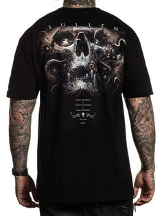 Sullen Men's Annihilation Short Sleeve T-shirt Online Shopping Usa, Jean Shirts, S Man, Shoulder Taping, All Brands, Short Sleeves, Tees, Mens Tops, Cotton