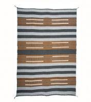 Manor Fine Wares: Charcoal  Cognac Bau Chief Blanket