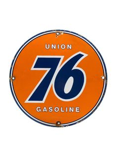 "Vintage Signs - Union 76 Porcelain Gas Station Pump Plate All of our vintage signs are originals, NOT reproductions Size: 11.75"" Material: Porcelain Note: All of our antique signs, automobilia, man cave decor, gifts for car lovers, man cave gifts, collectible toys and one of a kind items, are sold as is with no returns."