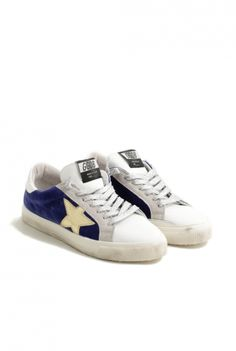 sneakers golden goose may bluette velvet G29WS127.E12