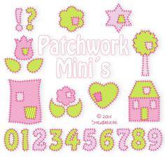 Patchwork Minis Machine Embroidery Files от DerStickbaer на Etsy