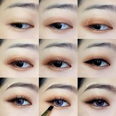 Latest eye makeup tips. Korean Makeup Look, Korean Makeup Tips, Asian Eye Makeup, Korean Makeup Tutorials, Natural Eye Makeup, Ulzzang Makeup Tutorial, Natural Eyeliner, Eyeshadow Tutorials, Winged Eyeliner