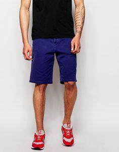 Chinoshorts von Esprit Gewebte Baumwolle mit Reißverschluss und Knopf Fünf-Taschen-Stil Straight Fit - gerader Beinschnitt Maschinenwäsche 100% Baumwolle Model trägt 32 Zoll/81 cm regulär und ist 6 Fuß 2 Zoll/188 cm groß