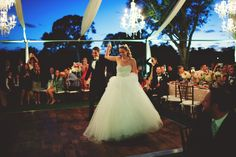 Open Frame Tent with Crystal Chandeliers