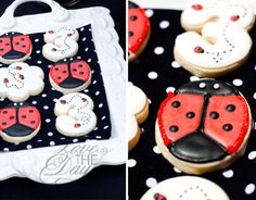 cute ladybug party biscuits