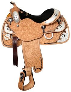 Western Show Saddle ~deal $1299~ Silver Hand Full Hand Tooled New 5 year Warranty