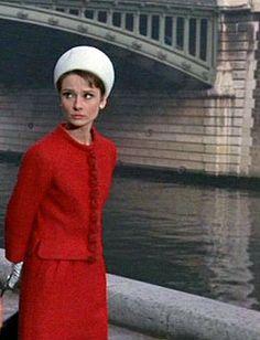 "Hubert de Givenchy costume for Audrey Hepburn in 1963 ""Charade""."