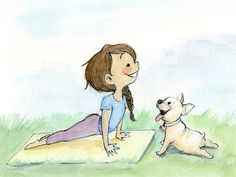 Yoga Loving Collection 8x10 Art Prints by GenevieveSantos on Etsy