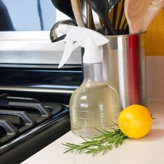 Rosemary-Lemon Food-Safe Kitchen Cleaner: Keep your kitchen clean with the help of a food-safe cleaner that also kills bacteria and stops mold and mildew growth.