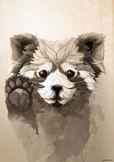 Los poster metálicos de animales salvajes de Rafapasta CG – La voz del muro