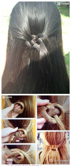 Chinese knot in hair